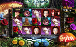 Play casino games such as Alice In Wonderland at WinADayCasino.eu!