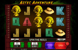 Play casino games such as Aztec Adventure at WinADayCasino.com!