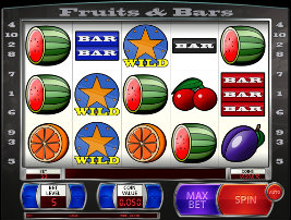 Play casino games such as Fruits And Bars at WinADayCasino.eu!