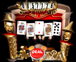 Play no download casino games such as Jacks' Show at WinADayCasino.eu!