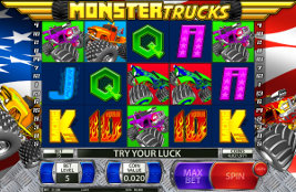 Play casino games such as Monster Trucks at WinADayCasino.eu!