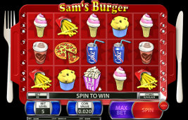 Play casino games such as Sam's Burger at WinADayCasino.eu!