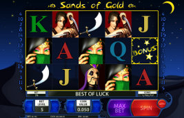 Play casino games such as Sands of Gold at WinADayCasino.eu!