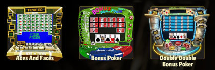 Play video poker casino games at WinADayCasino.eu!